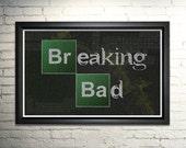 Breaking Bad Art- Word Art- Breaking Bad Poster