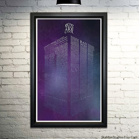 Doctor Who Art Tardis Poster