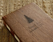 custom wood wedding or cabin guest book black walnut rustic fall anniversary gift memorial book personailzed journal natural - made to order