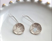 Shooting Star Sterling Silver Earrings