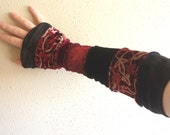 Red and Black - Armwarmers