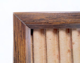 Faux Bois 5 x 7 Table/Wall Frame Wood Pattern Vintage 70s #190