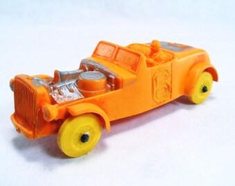 Auburn Rubber Model Car Orange 6 Racer Vintage 50's