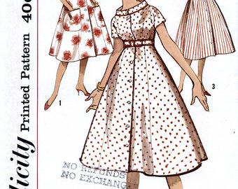 Simplicity 2907 Vintage 60s Misses' House Dress or Duster Sewing Pattern - Uncut - Size 14 - Bust 34