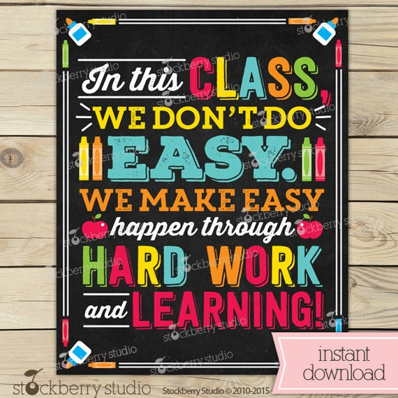 Classroom Decor Posters ~ Classroom sign teacher decor we don t do