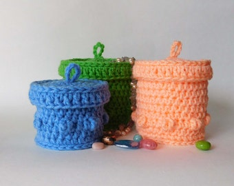 PDF Instant Download Easy Crochet Pattern No 135 Crochet Jewelry or Storage Box