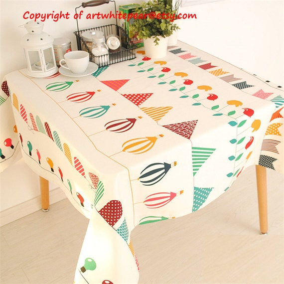 Tablecloth Party Banner Balloon Rectangle Square Round