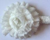Vintage Lace Pen w/Flower, White Shabby Chic Pen