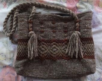 Vintage Hand Crochet Hippie Boho Purse Handbag