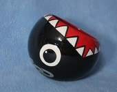 Chain Chomp Ceramic Tilted Bowl (Made to Order and Customizable)