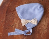 CASHMERE BABY HAT, baby bonnet, Set of 4, cashmere baby hat, newborn photography hat, baby blue, baby girl newborn hat, newborn bonnet,