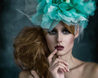 Silk Floral Bridal Garden Party Fascinator Hat