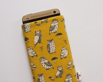 Owls Yellow Case iPhone 5 5s, 6, 6 Plus, iPod Classic, HTC One A9 M9, LG G3 G4, Samsung Galaxy S5 S6 Edge, Sony Xperia Z5, Nexus 6 Sleeve
