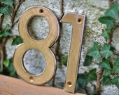 Bronze Distressed Aluminum House Numbers