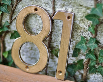 Bronze Distressed Aluminum House Numbers