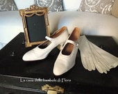 RESERVED Rare to find Stunning 1910s Edwardian Wedding Kid Leather Shoes
