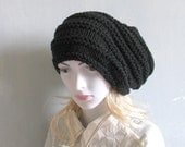 Cable Knit Hat Slouchy Women and Men High Heat Cap Oversized Hat knit hat slouchy women and men