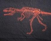 Giganotosaurus T-Shirt Dinosaur Fossil Skeleton - Bleach Painted - Custom - Made to Order