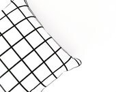 Grid cushion cover