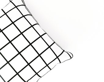 Grid cushion cover