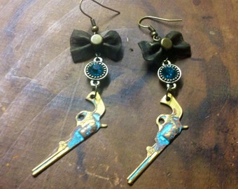 Gun Earrings Repurposed Country Chic Patina One of A Kind