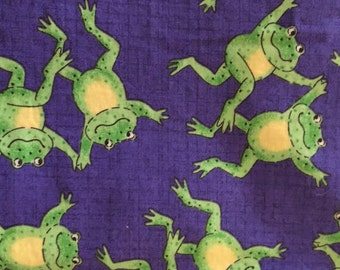 Frogs on lily pads fabric