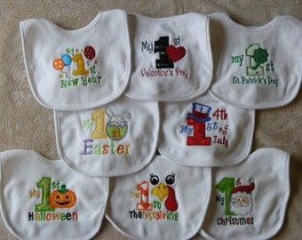 Baby's First  8-piece bib set