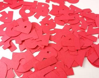 RED Disney Alphabet: 110 piece Disney 1 inch Font, Mickey Mouse Custom Confetti Pieces, Scrapbooking, Birthday, Decorations, Crafting
