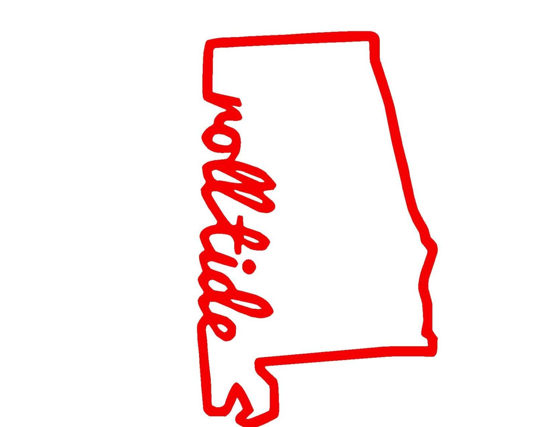 alabama state roll tide svg or silhouette digital download