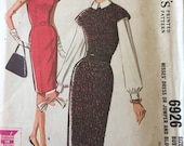 Vintage 1960s 1963 wiggle dress pinafore and blouse sewing pattern VLV rockabilly S McCalls