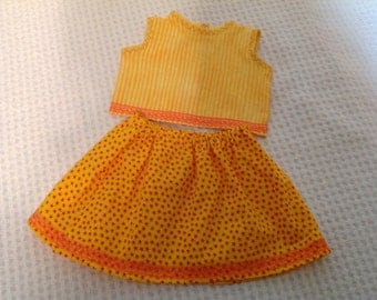 """18"""" American Girl style Doll Clothes, skirt and top"""