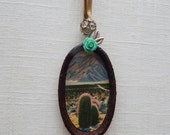 Mt. San Jacinto California original ornament.  one of a kind original hanging art. boho chic