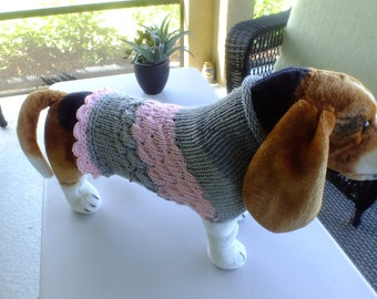 COUPONCODE HOLIDAY2016 for 10 dollars offDog Sweater  16 inches long Wool