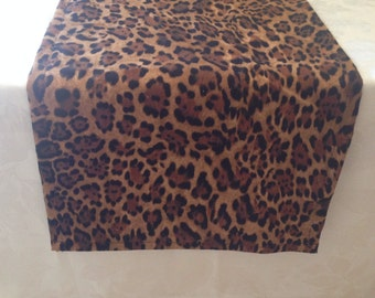 Animal Print Table Runner, Leopard Print, Baby Shower, Bridal Shower, Party,
