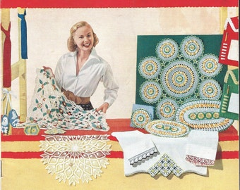 1950's Star Book No. 98  Suggestions for Fairs and Bazaars  :  Crochet Projects