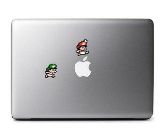 Baby Mario and Baby Luigi Retro 8-Bit Vinyl Decal