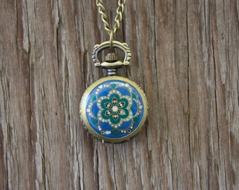 Small Enamel Watch Necklace