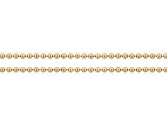 14Kt Gold Filled 1.5mm Ball Chain - 5ft (5430-5) Made in USA 15% Discounted