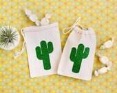 Cactus Favor Bags - Glitter Cactus - Cactus Wedding Favors