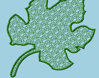 Embroidery Pattern - Lacey Oak Leaf
