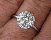Diamond Engagement Ring in 14k White Gold 2.06ct TW (1.85ct Center)