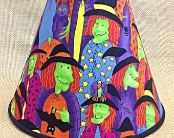 Halloween Witches Lamp Shade