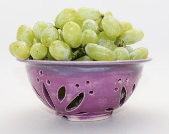 Pottery Colander, Fruit Bowl, Berry Bowl