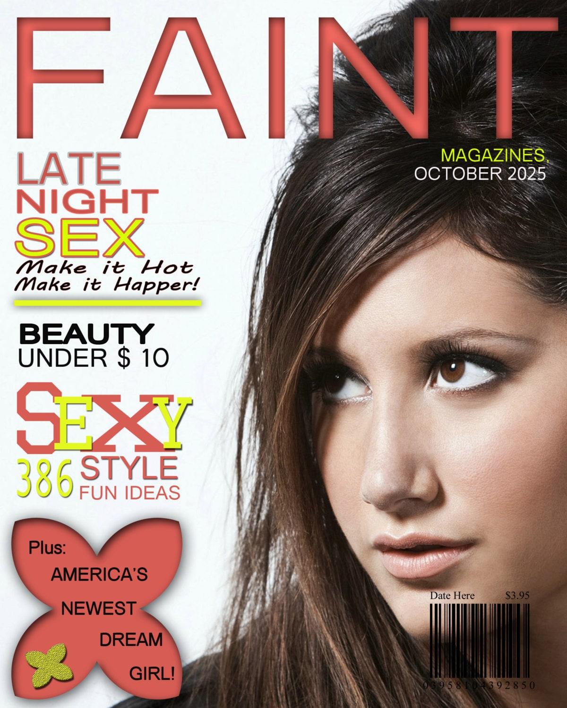 faint magazine cover 1 8x10 digital photoshop template for. Black Bedroom Furniture Sets. Home Design Ideas