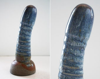 High fire fine art ceramic dildo 1014