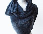urban accessory, black goth scarf, screen printed hand dyed shawl, 88editions scarves, transitional fall scarf