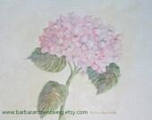 Pink Hydrangea Painting, Hydrangea Art Print, Watercolor Hydrangea, Flower Art, Flower Wall Art, Flower Art Print, Shabby Chic Home Decor