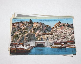 10 Vintage Marseille France Postcards Used