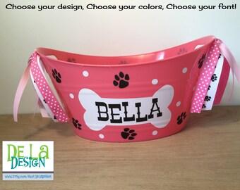 Dog easter basket etsy personalized oval tub pet toys dog cat easter gift basket negle Images
