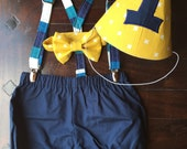 Vintage Cake Smash Outfit, Vintage Smash Cake Outfit, Birthday Boy Outfit,  Bowtie, Suspenders, and Diaper Cover